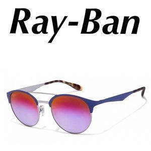 Ray-Ban Highstreet Sunglasses Blue Metal Unisex
